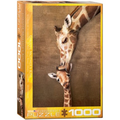 CASSE-TÊTE EUROGRAPHICS- 1000 PCS- GIRAFE MOTHER'S KISS